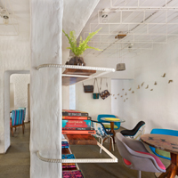 Interior Photography by Kunal Bhatia, of The Project Cafe designed by Workshop Inc. Only Editorial Usage rights granted to Workshop Inc. No rights to any third party. Copyrights belong to photographer.